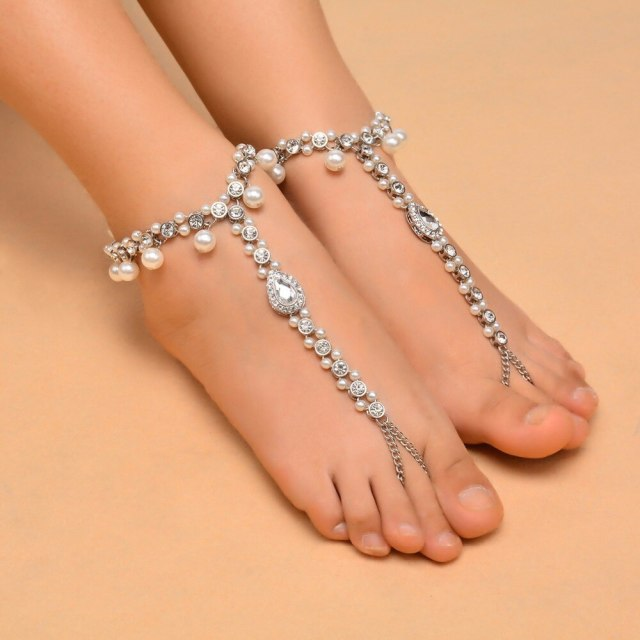 Mode-cheville-Bracelet-mariage-pieds-nus-sandales-plage-pied-bijoux-Sexy-tarte-jambe-cha-ne-femme