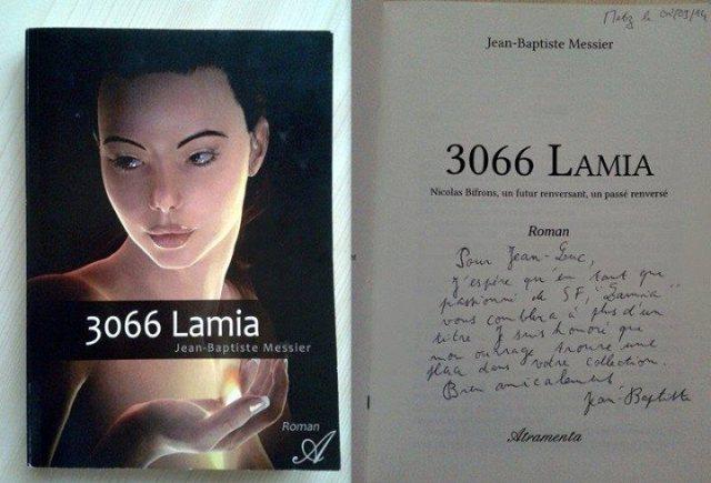 dédicace de 3066 Lamia