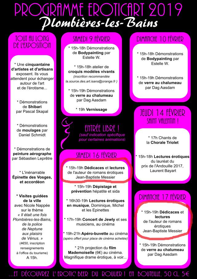 Programme EroticArt -2019Feutre-